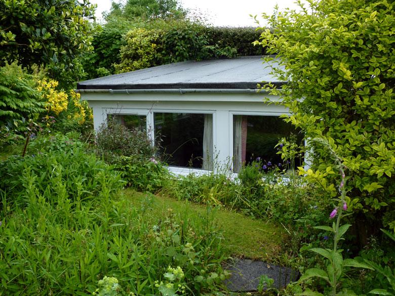 onze kamer in de B&B is een uitbouw in de tuin