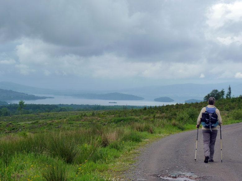in de verte zien we voor het eerst Loch Lomond