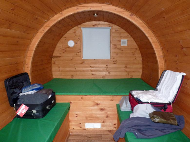 in deze Hobbit hebben we ruim voldoende plaats en comfort om twee dagen in door te kunnen brengen