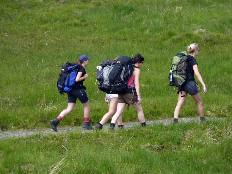 vier Schandinavische dames in marstempo