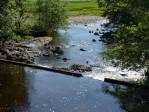 overloop van de rivier naar Loch Tulla