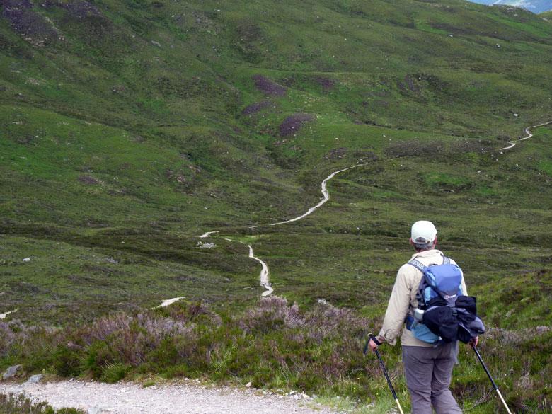 na de top gaan we op en neer langs schitterende berghellingen