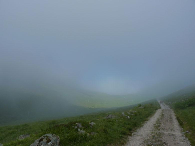 van mist naar helder blauw in enkele minuten...