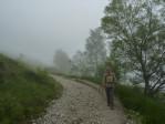 de dag begint met dichte mist waardoor we het mooiste uitzichtpunt moeten missen
