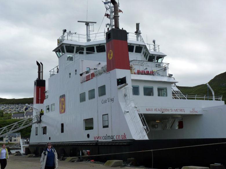 onze boot ligt klaar om ons op te pikken