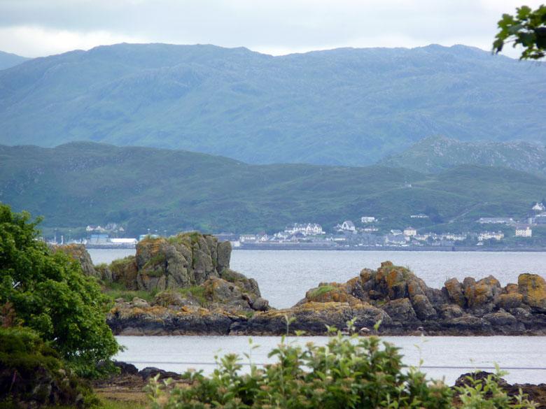 uitzicht vanuit de veerboothaven