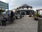 koffiepauze bij de haven