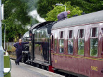 de stoomtrein tussen Fort William en Mallaig