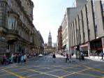 onderweg naar het hotel zien we al iets van Glasgow