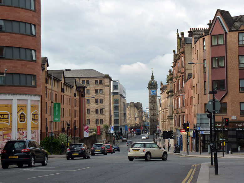 op weg om Glasgow te verkennen