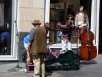 musikanten overal in het centrum