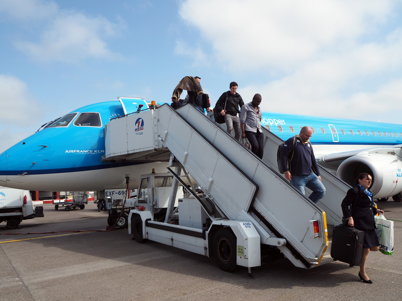 aangekomen in Aberdeen Schotland