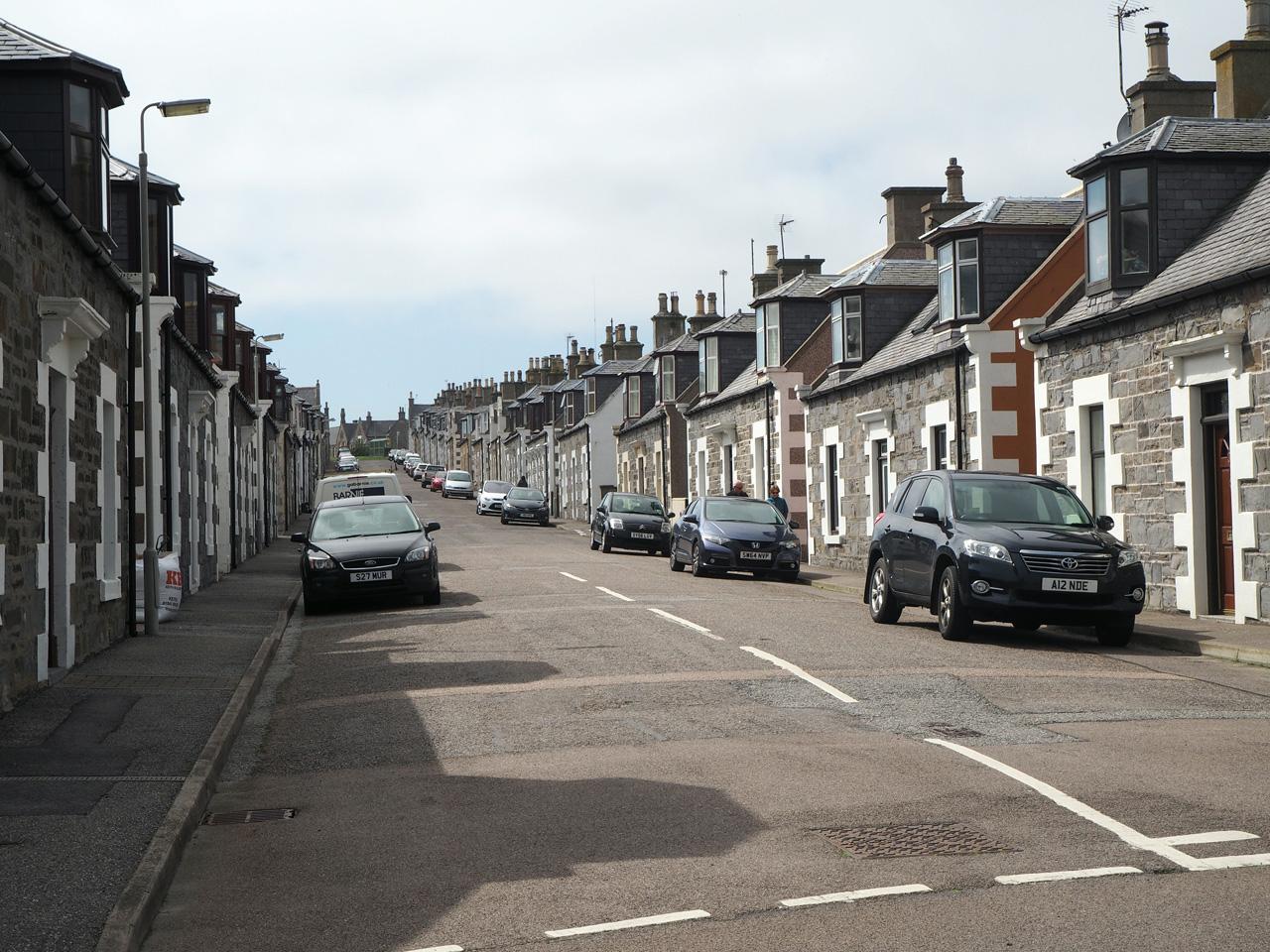de kleine huisjes in Portknockie