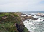 fraaie kust Portknockie bij de Bowfiddle Rock