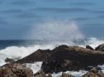 pauze aan de kust met zicht op Buckie