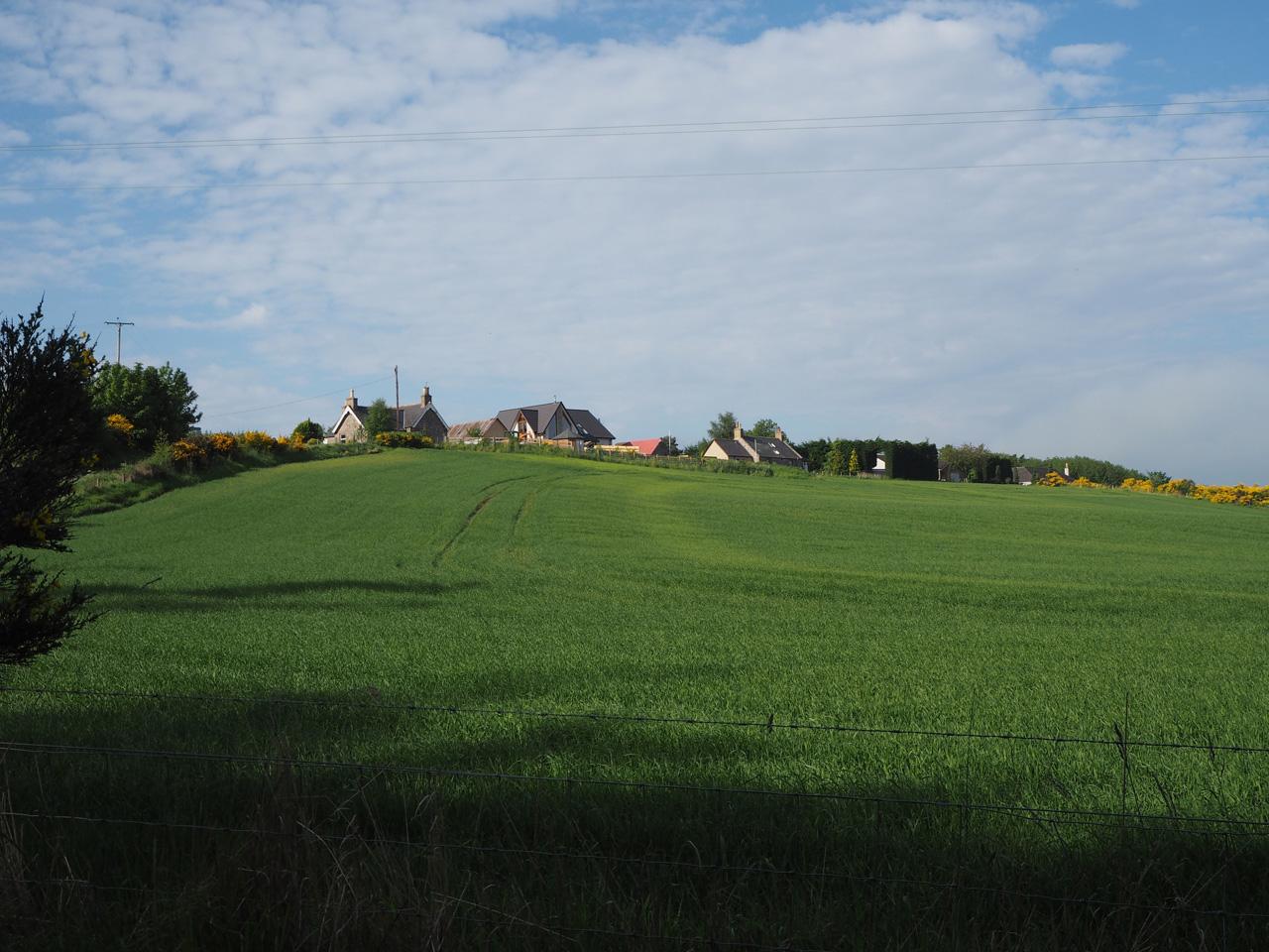 het heuvellandschap bij Fochabers