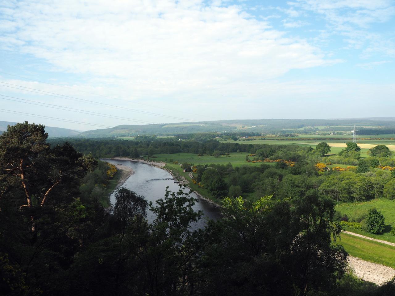 uitzichtpunt over het Spey dal
