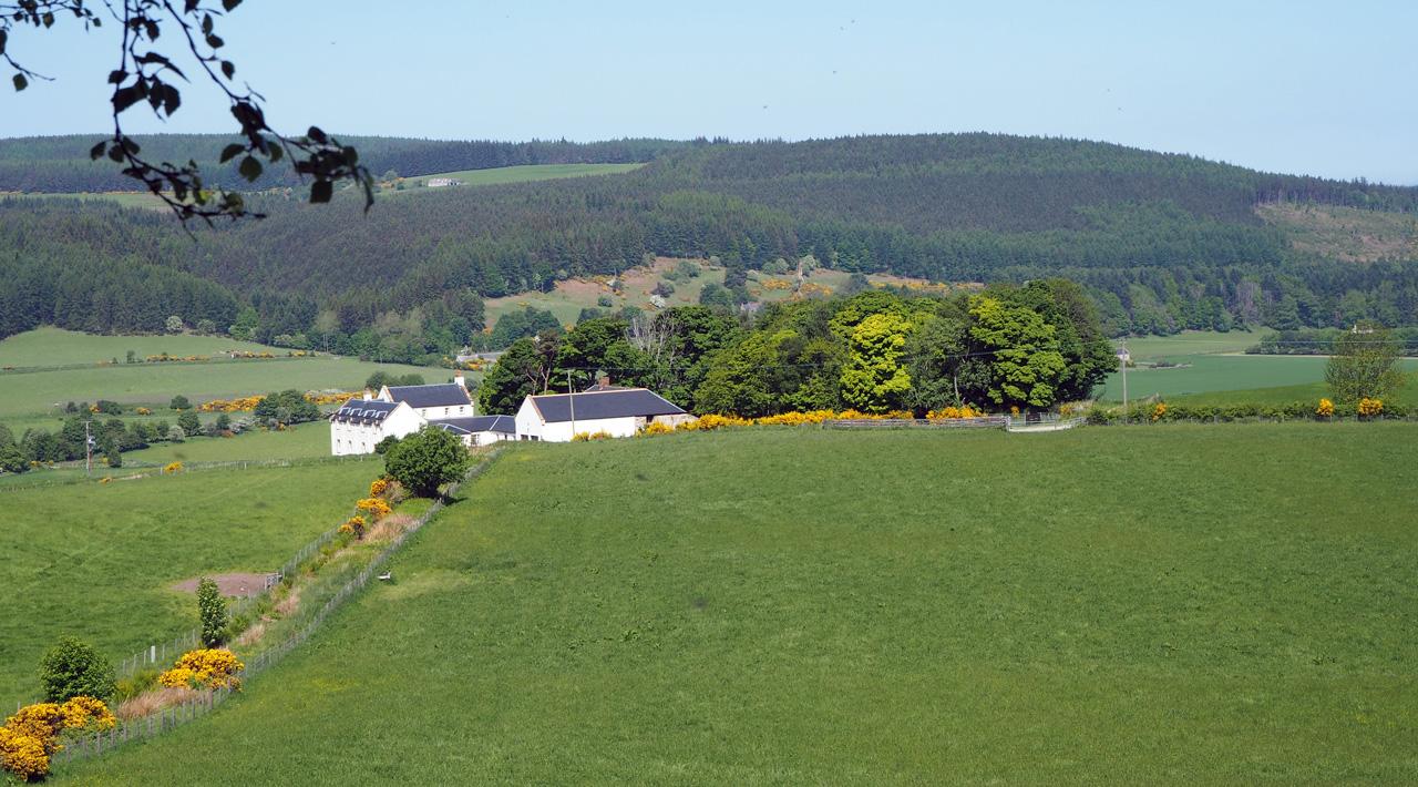 mooie boerderijen op de hellingen
