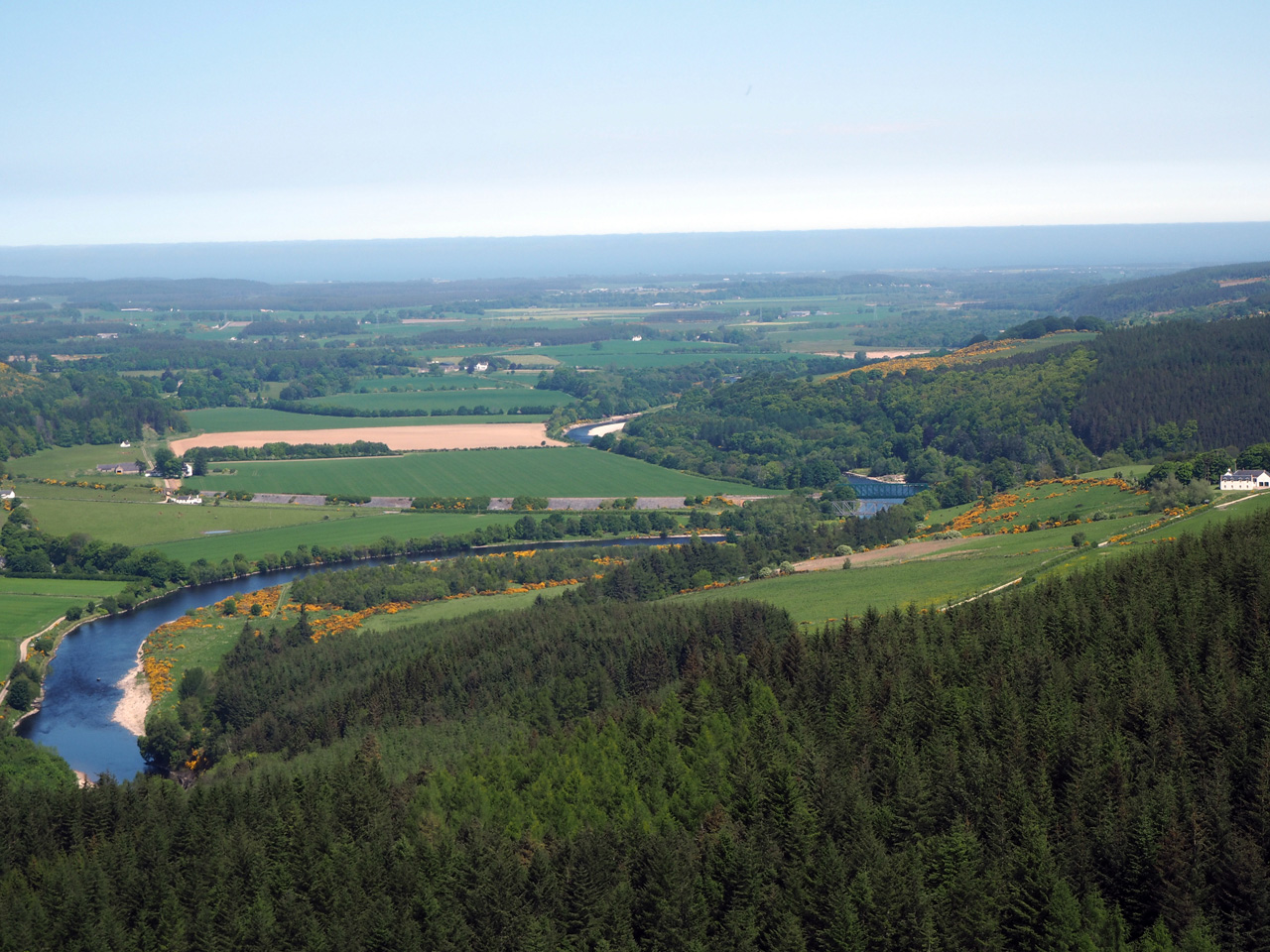 lunchen met een fraai uitzicht dankzij het zojuist gekapte bos