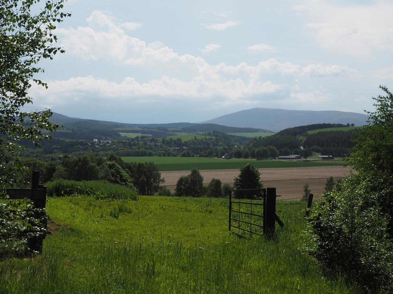 zicht op de eerste berg van de Cairngorms Moutains