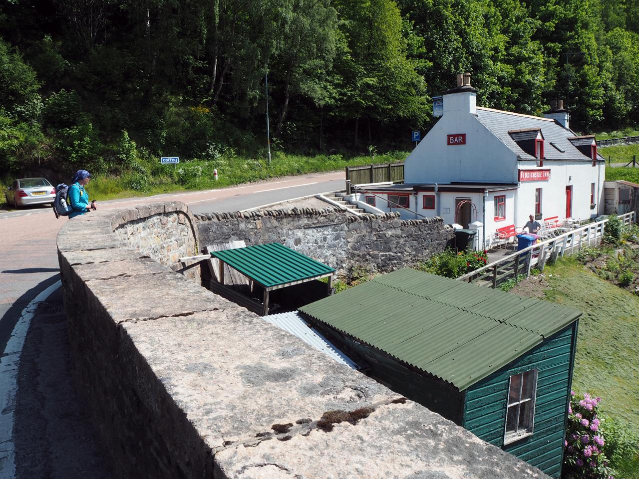de oude plaatselijke pub van Craigellachie