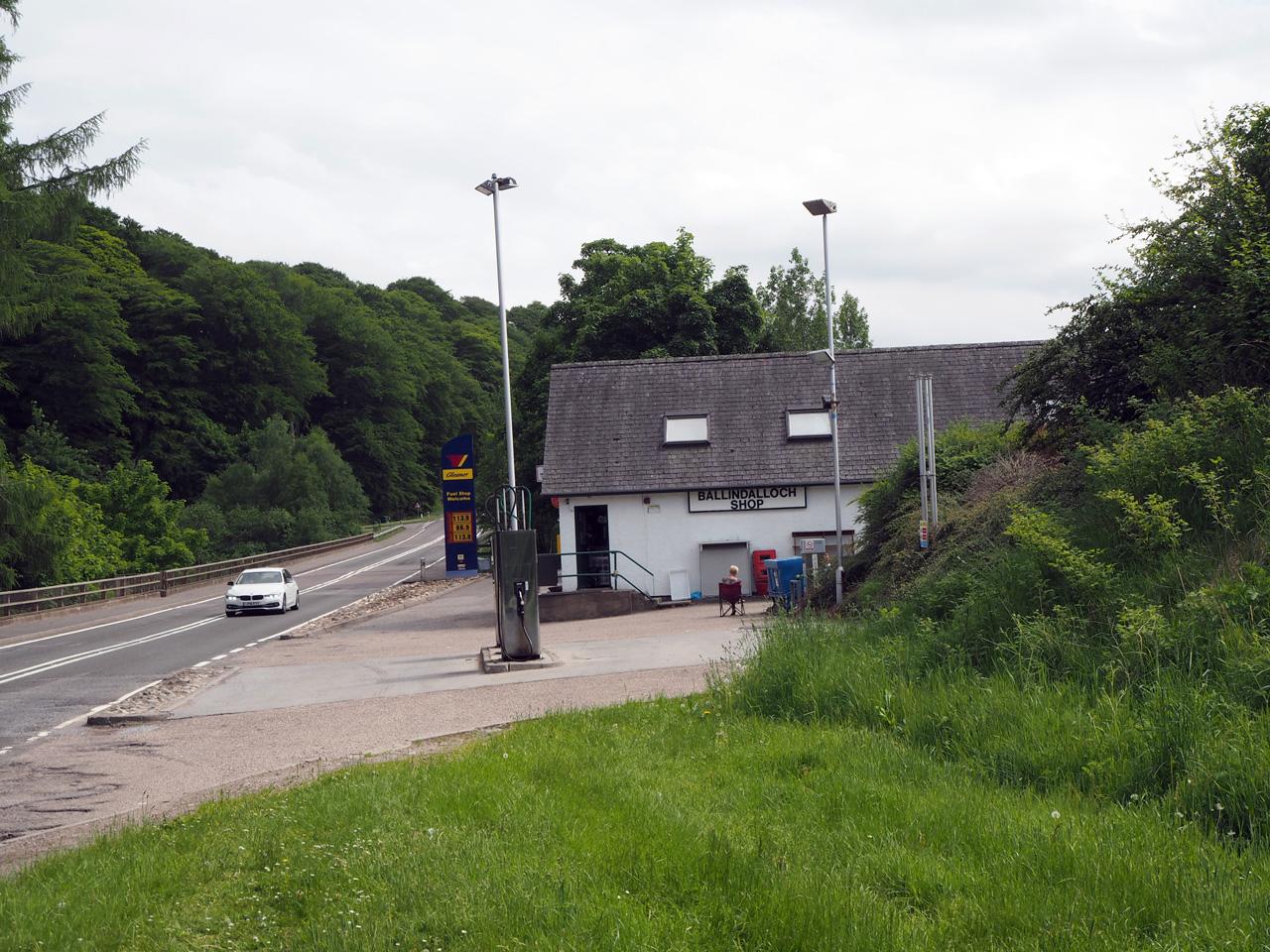 benzinestation annex supermarkt in Ballindalloch