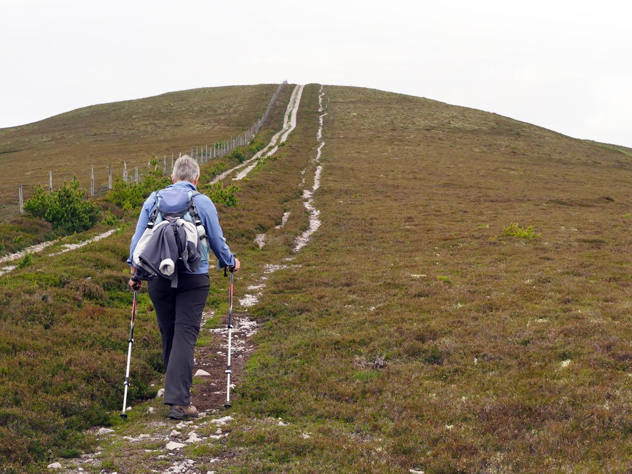 de top van Cairn Daimh komt in zicht