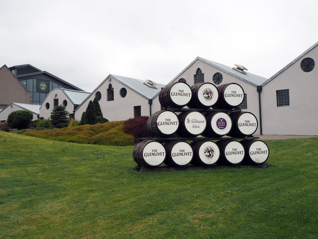 de beroemde Glenlivet distilleerderij