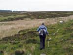het weidse landschap op weg naar de Cairn Daimh