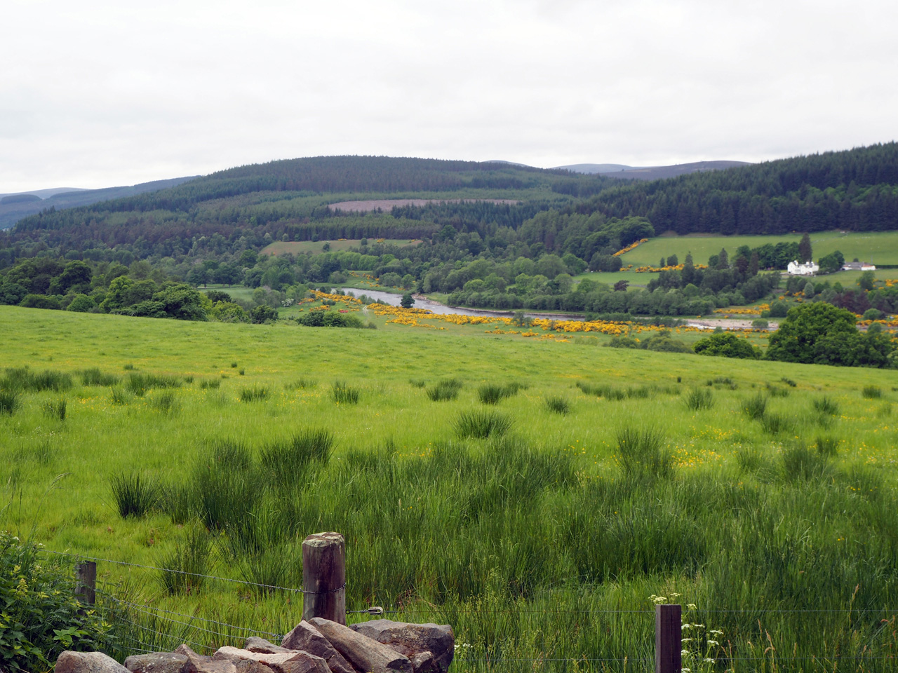 mooi uitzicht over het Spey dal