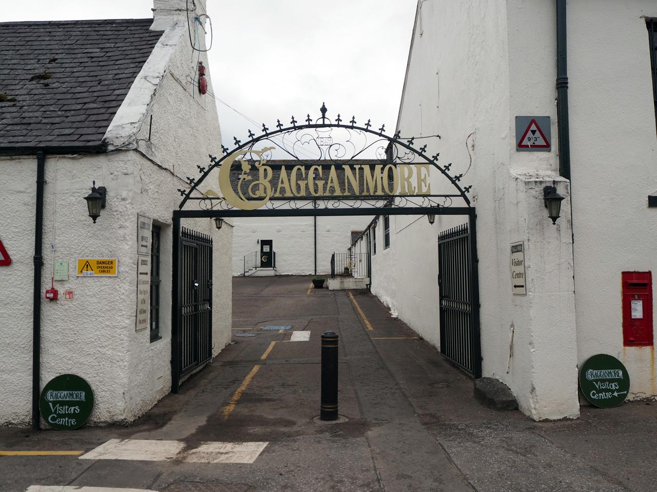 hoofdingang van de Cragganmore distilleerderij