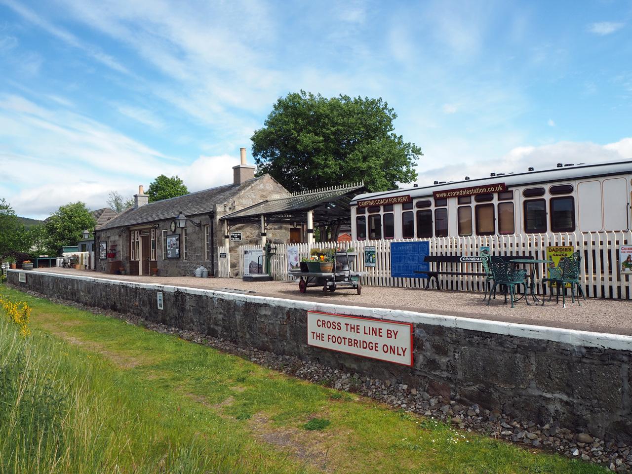 Cromdale station, nu een fraaie woning