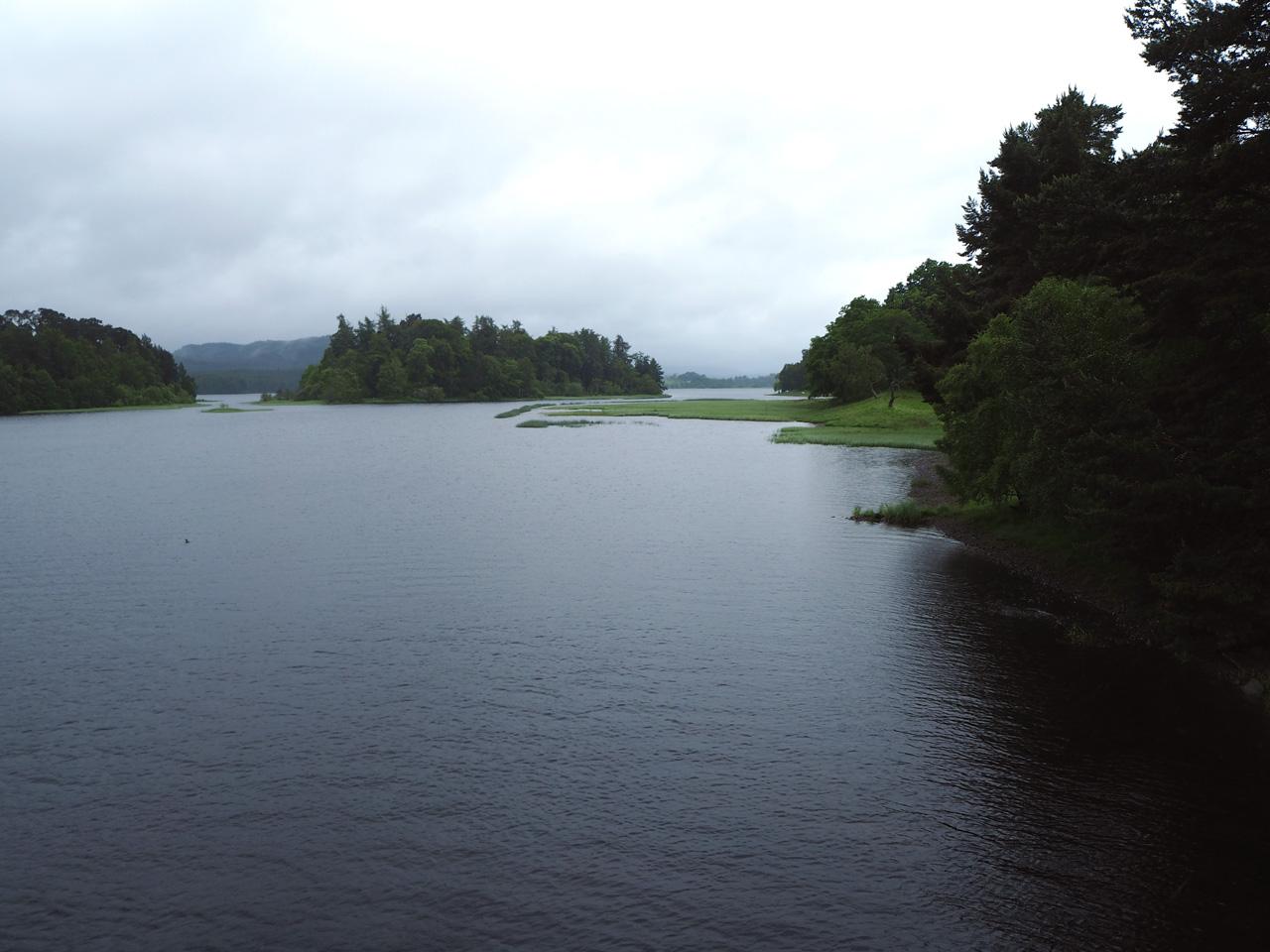 Loch Insh waar de Spey doorheen stroomt