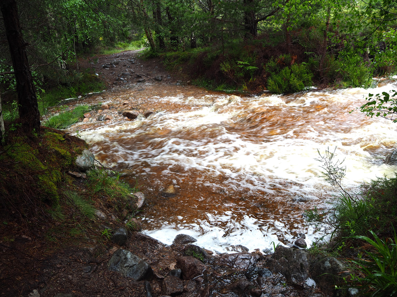 doorwaadbare plaats in de Allt Coire Follais
