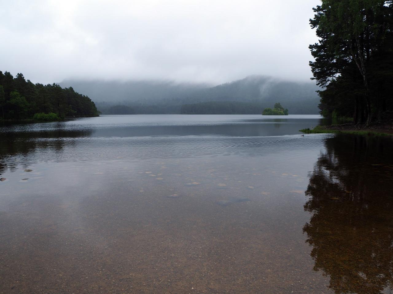 uitzicht over Loch an Eilein