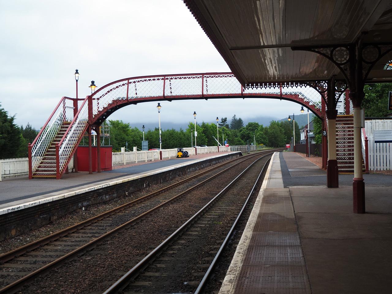 Railwey station Aviemore Cairngorms
