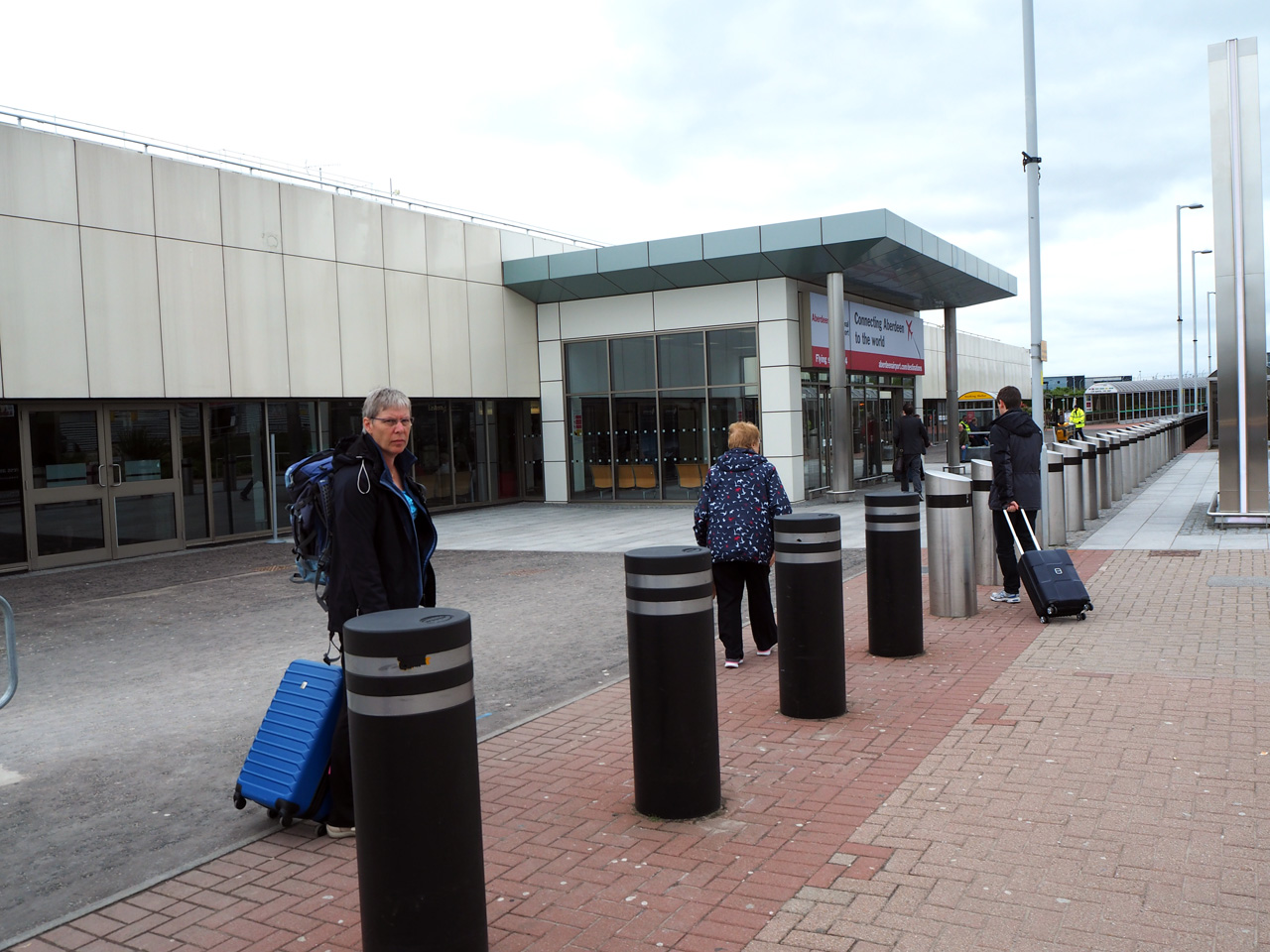 centrale ingang Aberdeen Airport