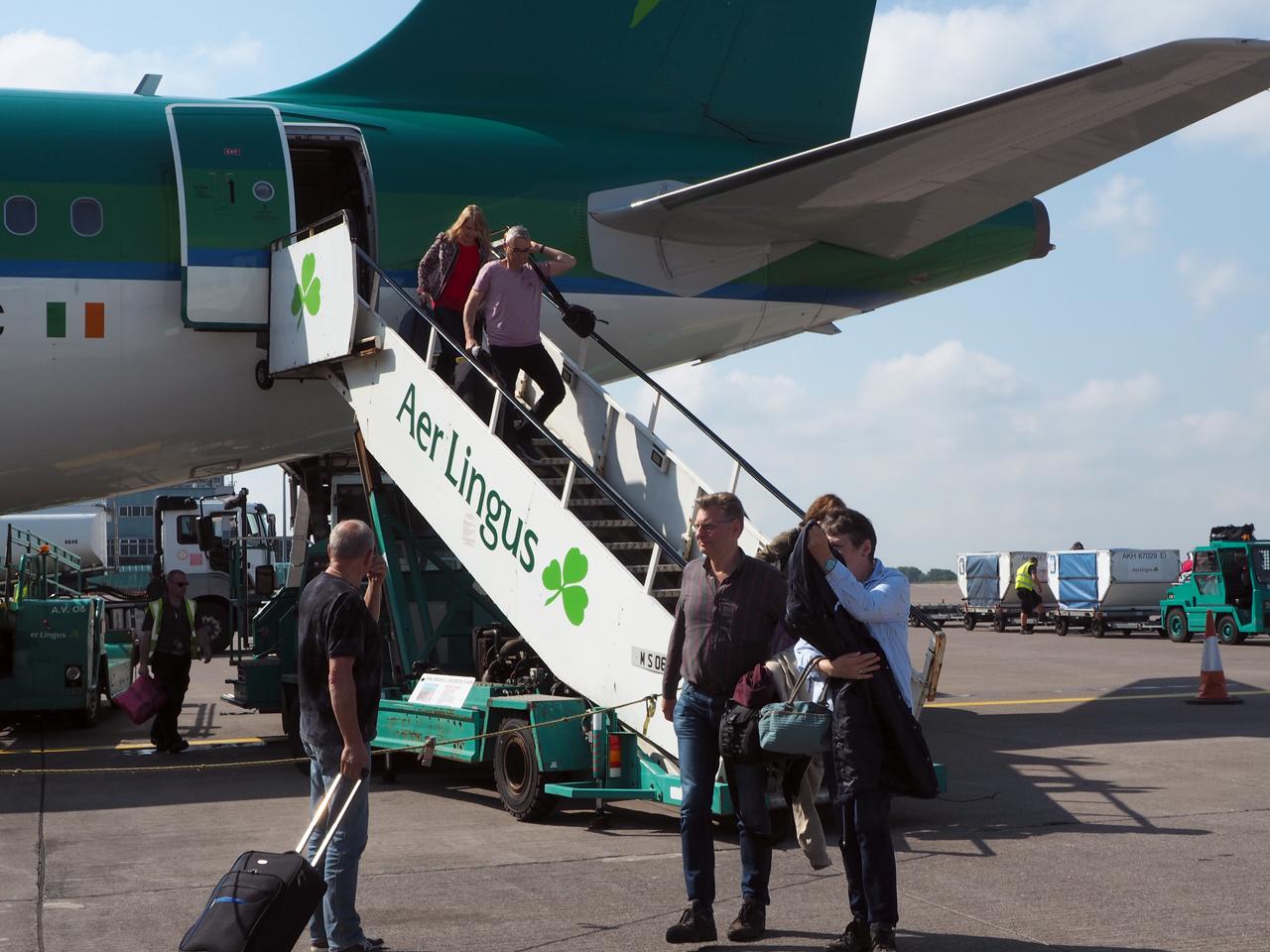 Aankomst op Cork Airport