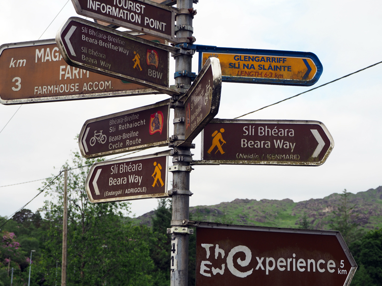 start- en eindpunt Beara Way Ierland