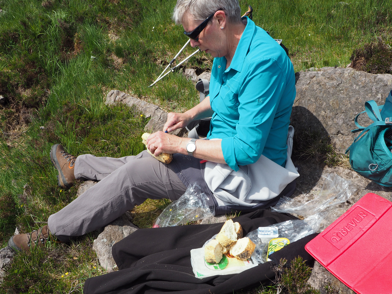 lunchen met zicht op de Bantry Bay