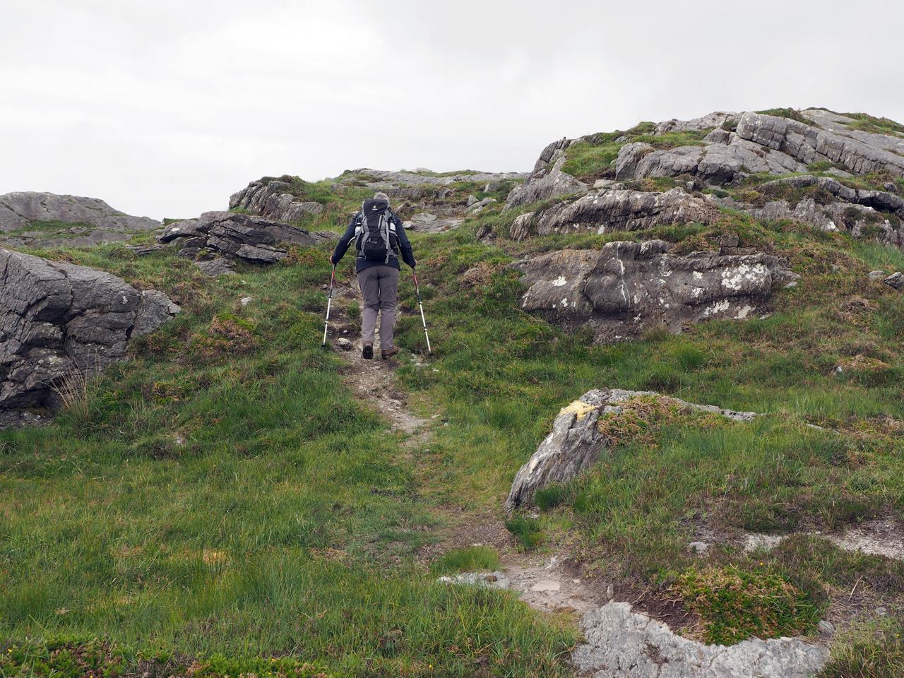 bergpaadje naar de eerste top