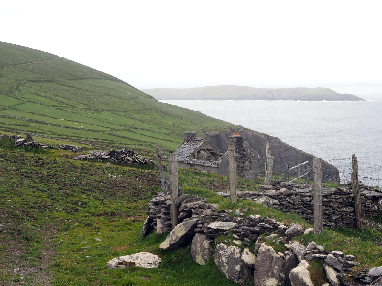 de laatste huizen op het eiland