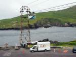over de oceaan met Ierlands enige kabelbaan