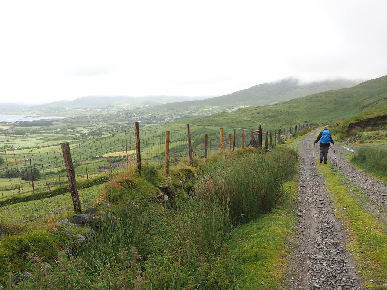 prachtig pad langs de berghelling