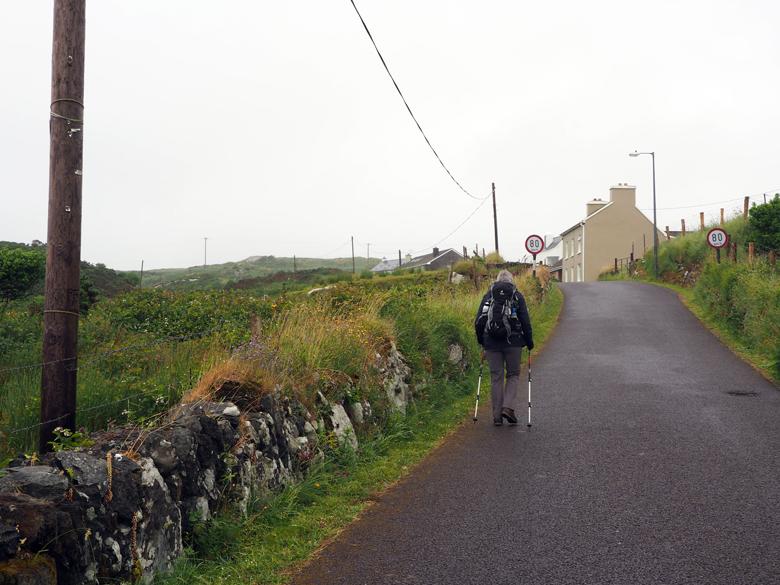 asfaltweggetje langs de Coulagh Bay kust