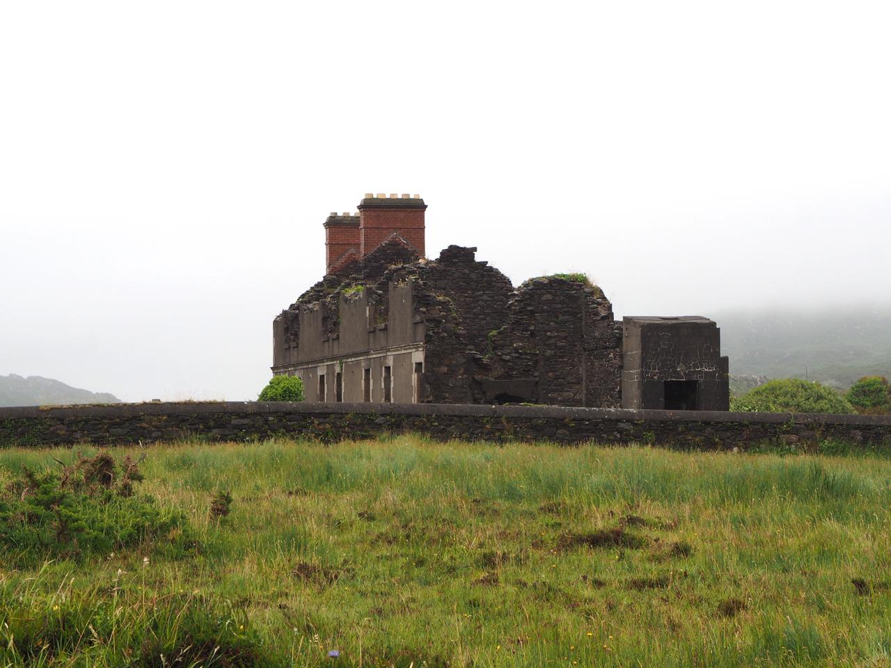 ruïne van het reddingsbrigade gebouw