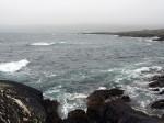zee, wind, golven en regen