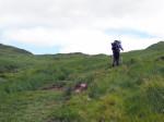 beklimming zadel onder de Derrysallagh